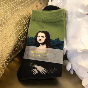 Mona Lisa Socks I Womens Shoe Size 5-10 NWT
